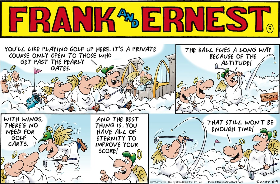 Frank and Ernest for Jun 8, 2014 Comic Strip
