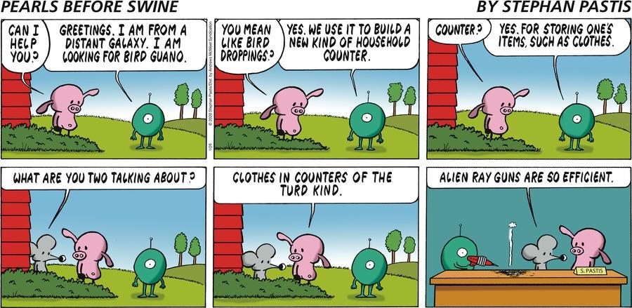 Pearls Before Swine Comic Strip for January 26, 2020