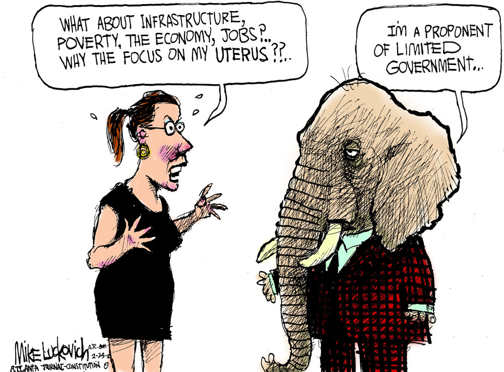 Mike Luckovich Comic Strip for February 23, 2012