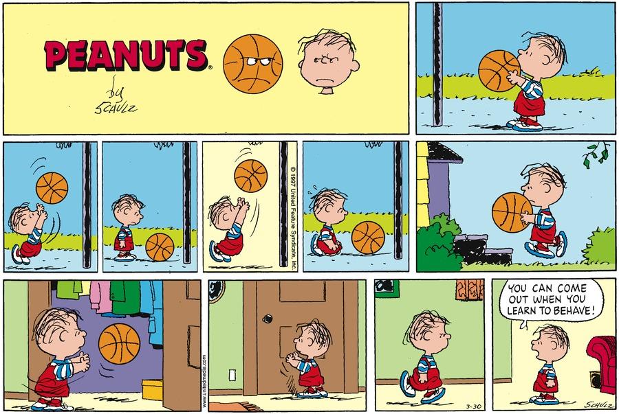 Peanuts Comic Strip for March 30, 1997