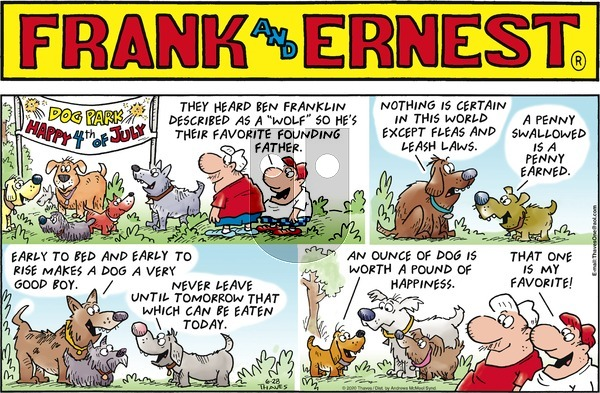 Frank and Ernest on Sunday June 28, 2020 Comic Strip