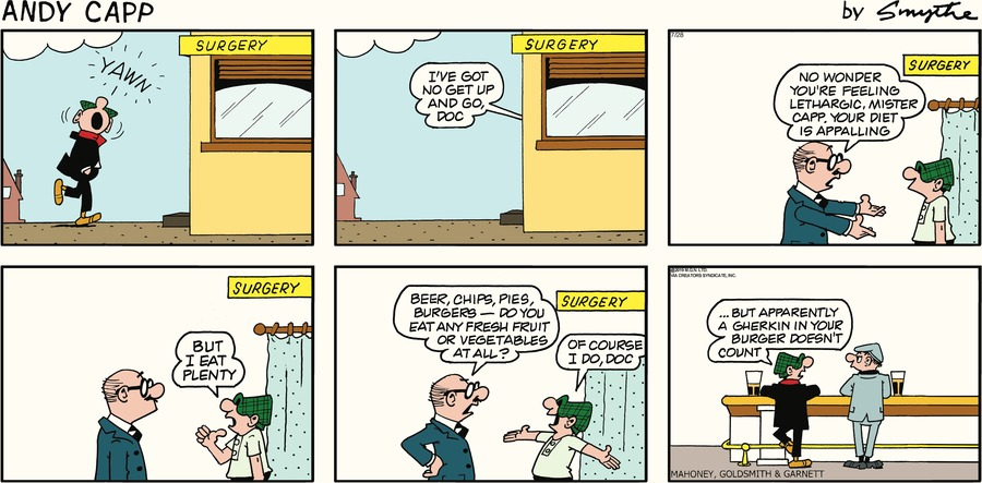 Andy Capp Comic Strip for July 28, 2019