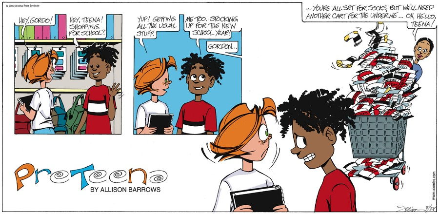 PreTeena Comic Strip for December 08, 2019