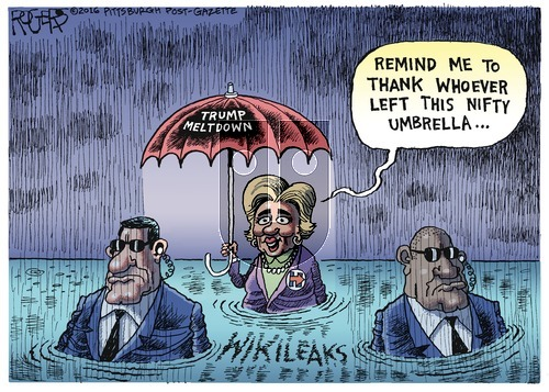 Rob Rogers on Sunday October 16, 2016 Comic Strip