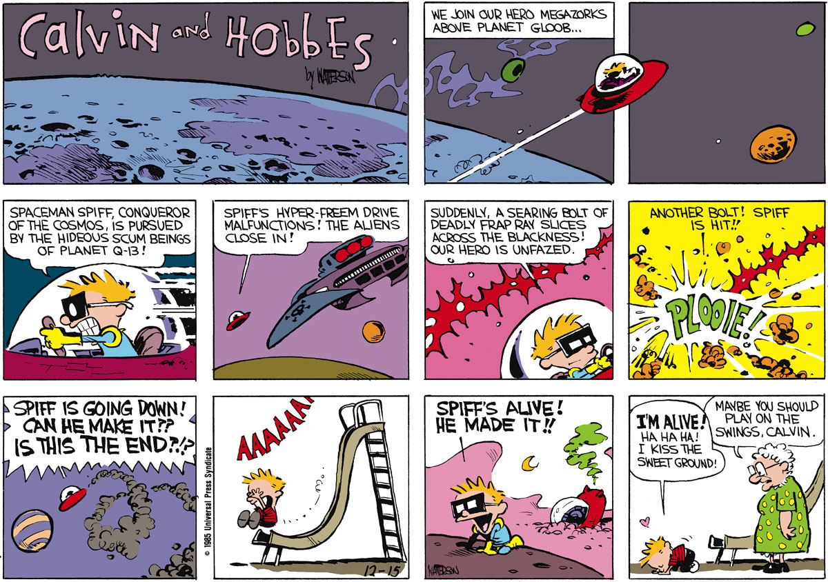 Calvin and Hobbes Comic Strip for December 15, 1985