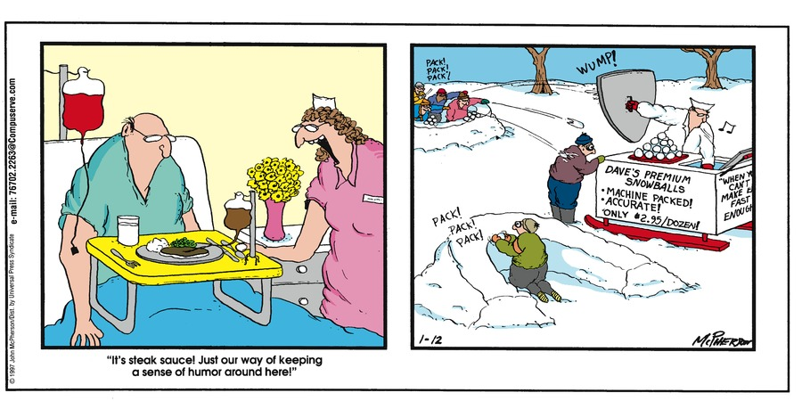 Close to Home for Jan 12, 1997 Comic Strip