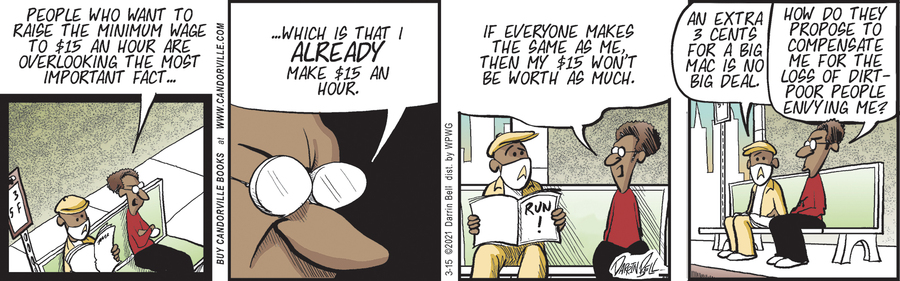 Candorville Comic Strip for March 15, 2021