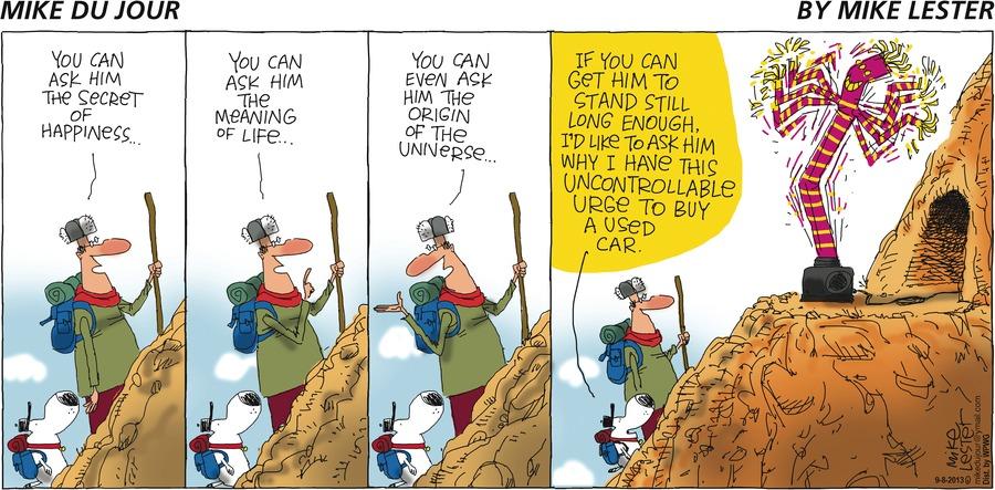 Mike du Jour for Sep 8, 2013 Comic Strip