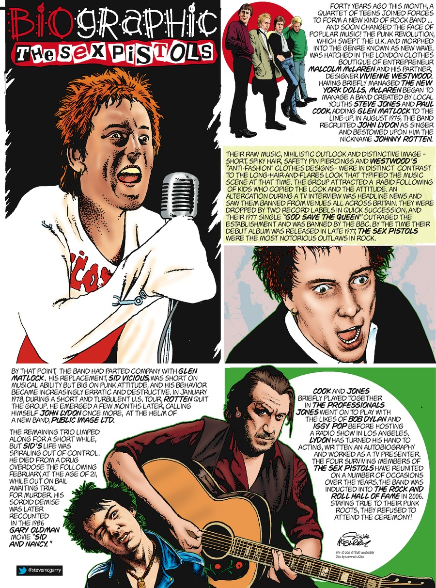 Biographic Comic Strip for August 09, 2015