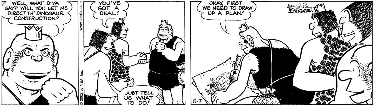 Alley Oop for May 7, 2002 Comic Strip