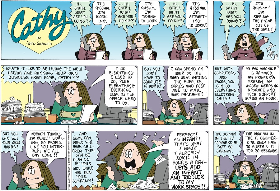 Cathy for Sep 7, 1997 Comic Strip