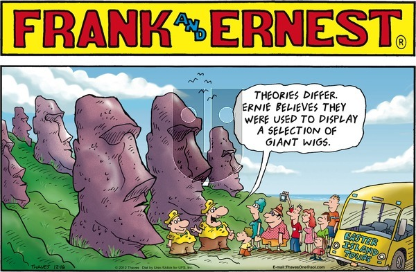 Frank and Ernest on Sunday December 16, 2012 Comic Strip