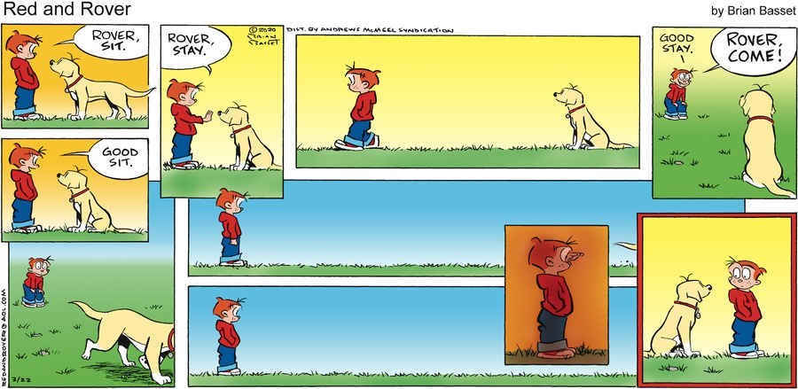 Red and Rover Comic Strip for March 22, 2020
