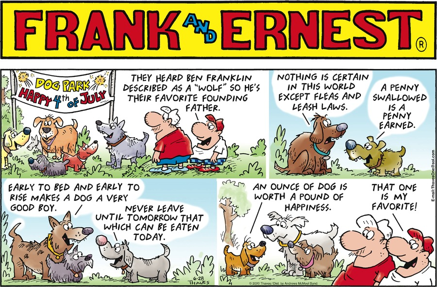 Frank and Ernest Comic Strip for June 28, 2020