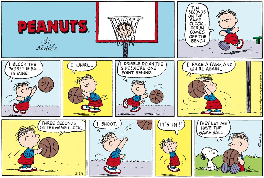 Peanuts for Feb 28, 1999 Comic Strip
