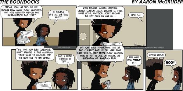 The Boondocks on Sunday March 7, 2004 Comic Strip