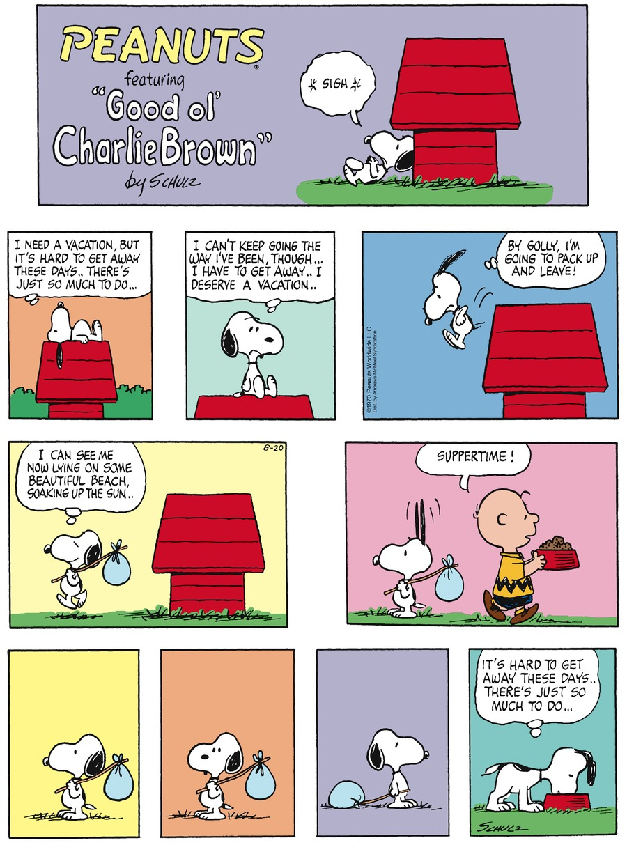 Peanuts Comic Strip for August 20, 2017