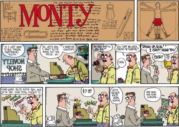 Monty on Sunday April 3, 2016 Comic Strip