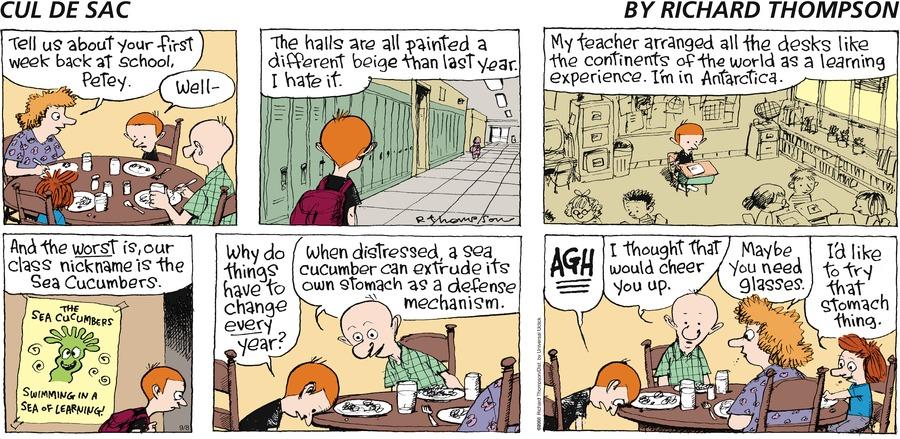 Cul de Sac for Sep 8, 2013 Comic Strip