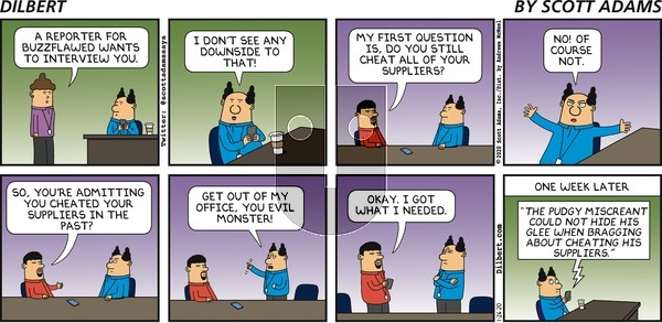 Dilbert on Sunday January 26, 2020 Comic Strip
