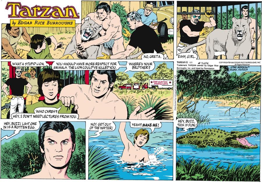Tarzan Comic Strip for June 05, 2016