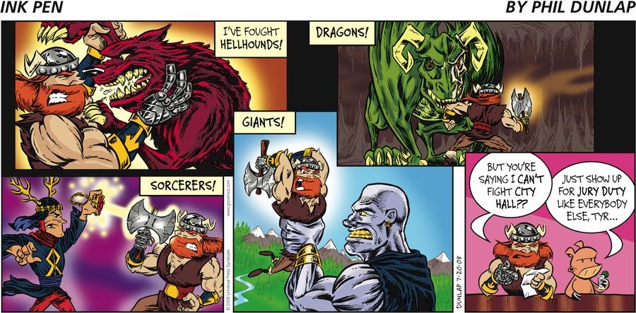 Ink Pen Comic Strip for July 20, 2008