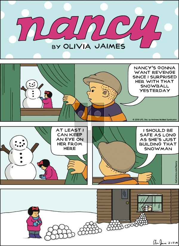 Nancy on Sunday February 17, 2019 Comic Strip