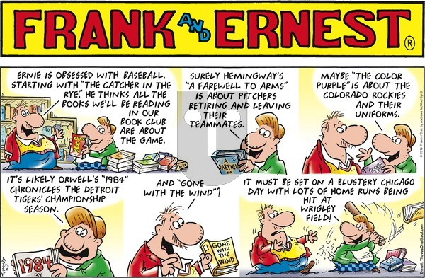 Frank and Ernest on Sunday April 7, 2019 Comic Strip