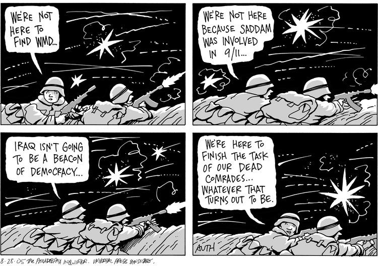 Tony Auth for Aug 28, 2005 Comic Strip