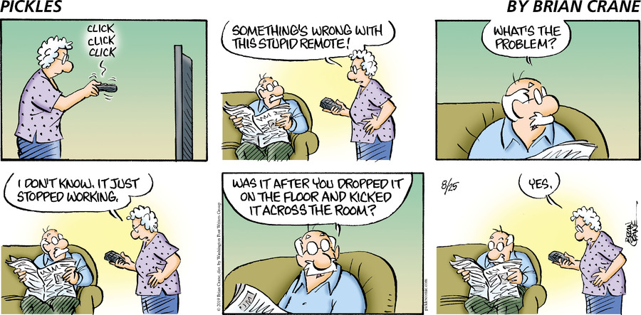 Pickles Comic Strip for August 25, 2019