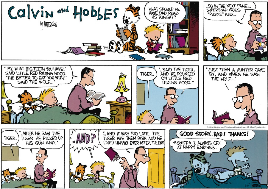 Calvin and Hobbes by Bill Watterson on Sun, 09 May 2021