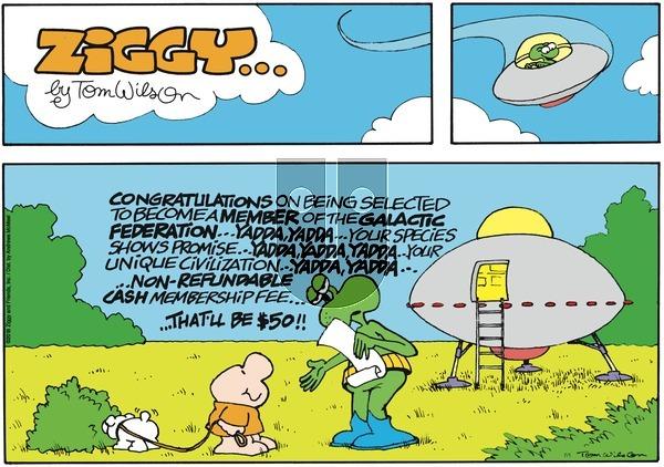 Ziggy on Sunday July 1, 2018 Comic Strip