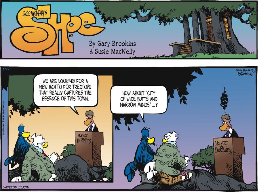 Shoe Comic Strip for November 29, 2015