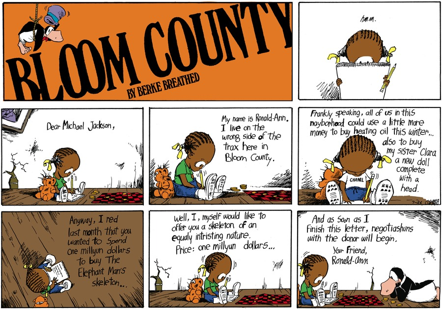 Bloom County for Jul 26, 1987 Comic Strip