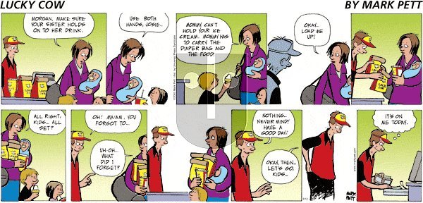 Lucky Cow on Friday April 23, 2021 Comic Strip