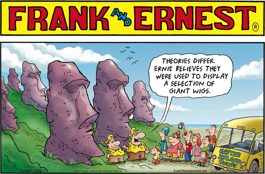 Frank and Ernest Comic Strip for December 16, 2012