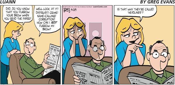 Luann - Sunday September 29, 2019 Comic Strip