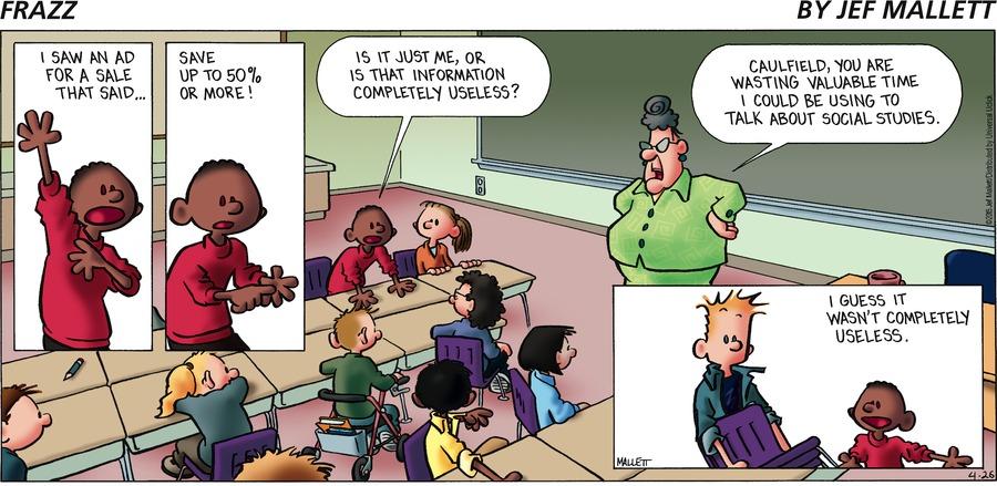 Frazz Comic Strip for April 26, 2015