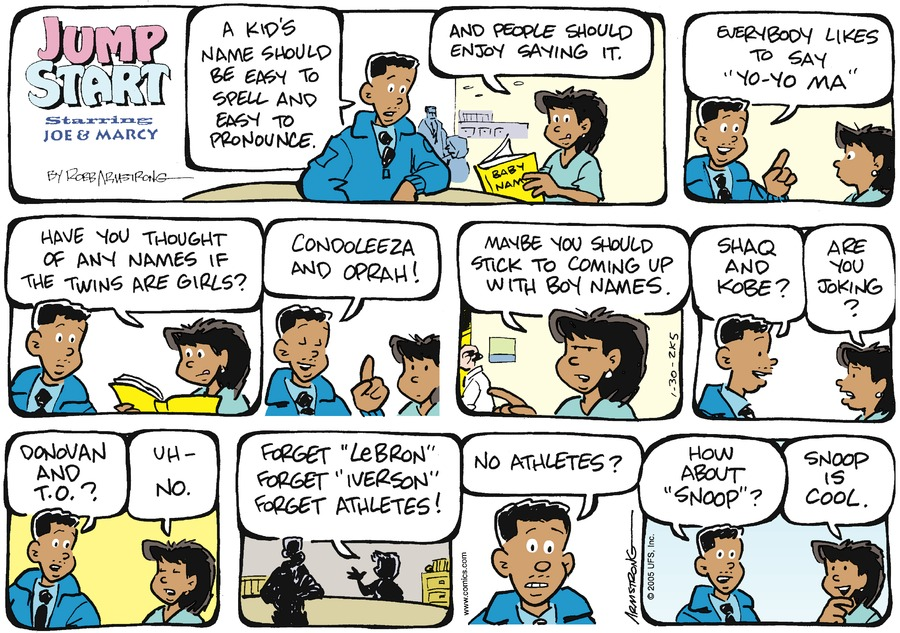 JumpStart for Jan 30, 2005 Comic Strip