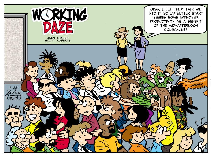 Working Daze Comic Strip for July 25, 2021