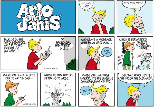 Arlo and Janis on Sunday November 9, 1997 Comic Strip