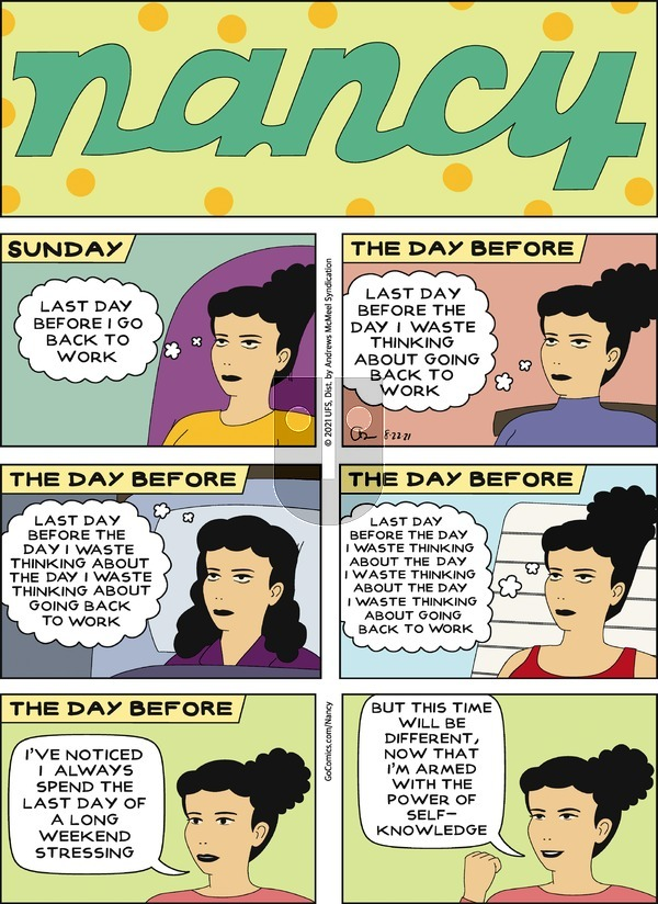 Nancy on Sunday August 22, 2021 Comic Strip