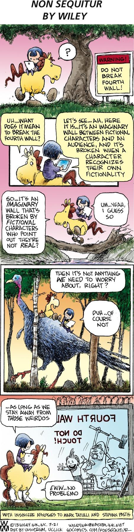 Non Sequitur for Jul 21, 2013 Comic Strip