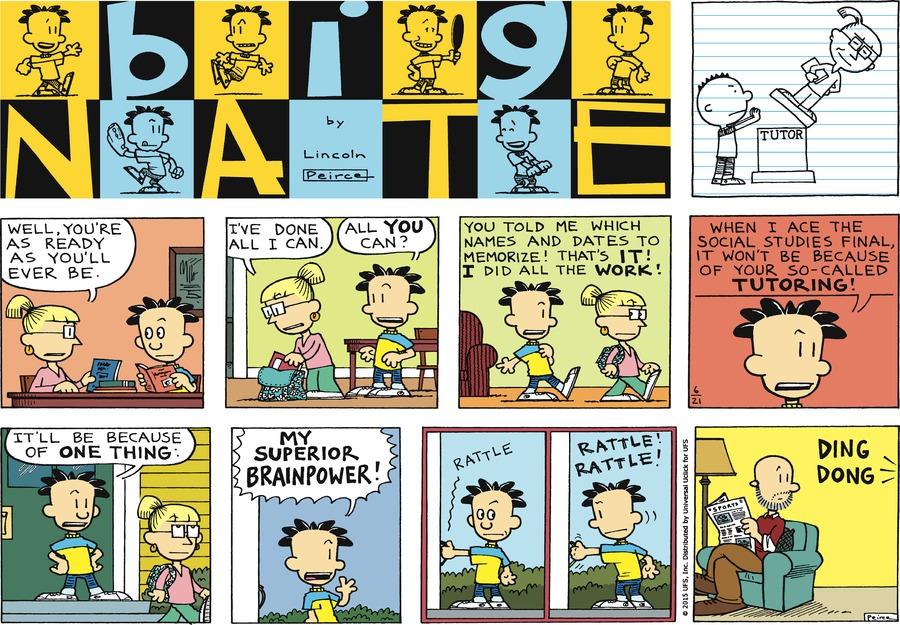 Big Nate Comic Strip for June 21, 2015