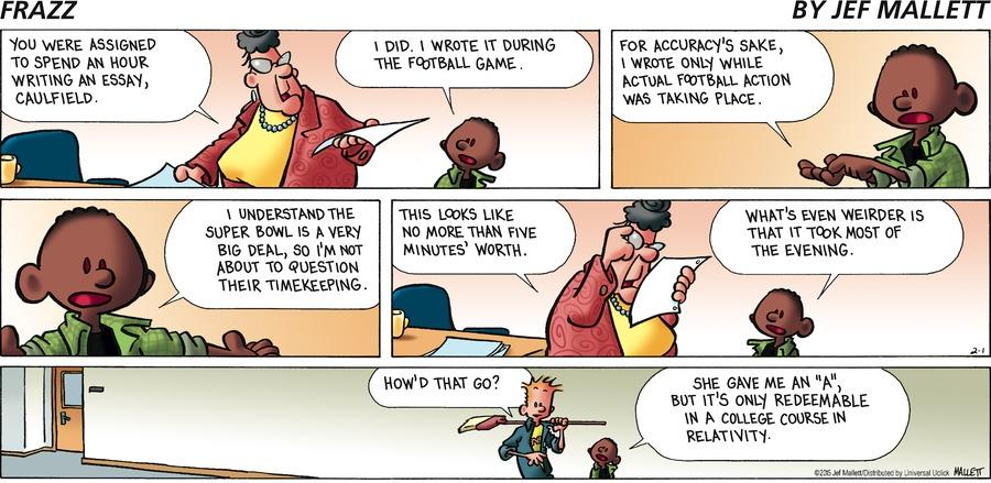 Frazz Comic Strip for February 01, 2015