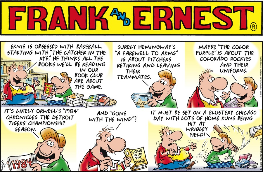 Frank and Ernest Comic Strip for April 07, 2019