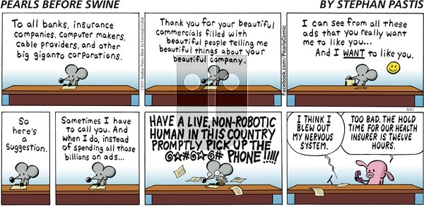 Pearls Before Swine on Sunday May 31, 2015 Comic Strip