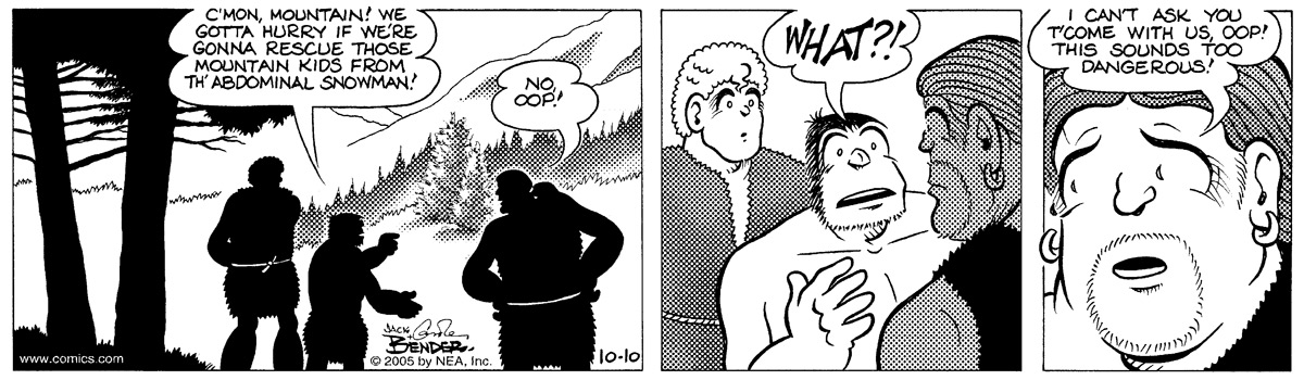 Alley Oop for Oct 10, 2005 Comic Strip