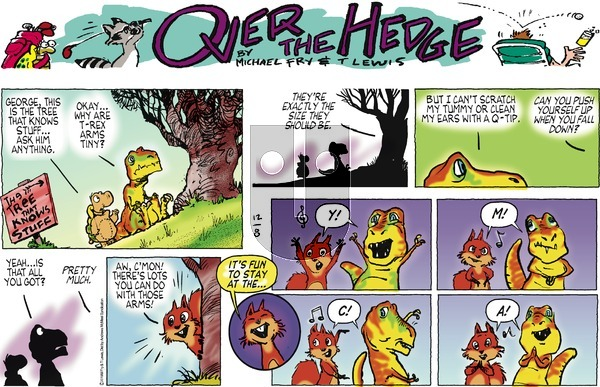 Over the Hedge on Sunday December 8, 2019 Comic Strip