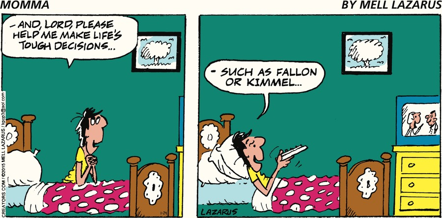 Momma Comic Strip for January 24, 2021